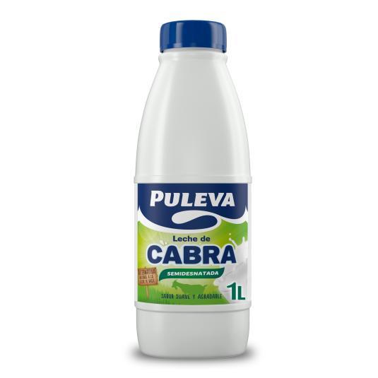 LECHE SEMIDESNATADA CABRA BOTELLA PULEVA 1L