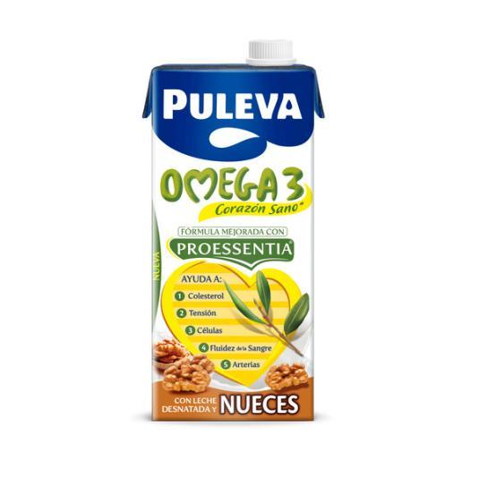 PREPARADO LACTEO COLESTEROL OMEGA 3 NUECES PULEVA 1L