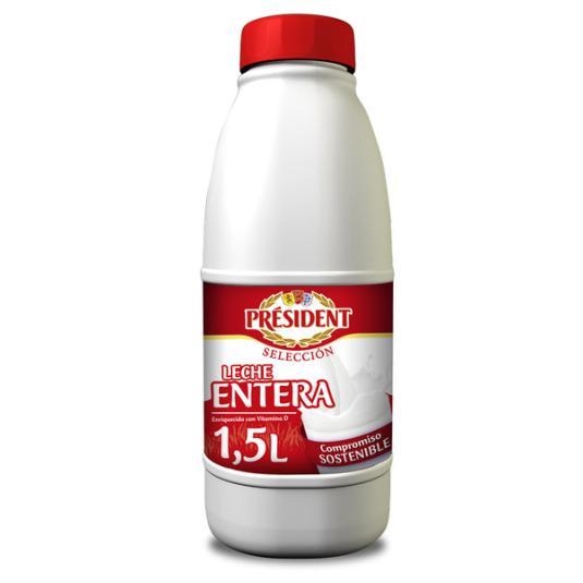 LECHE ENTERA BOTELLA PRESIDENT 1.5L