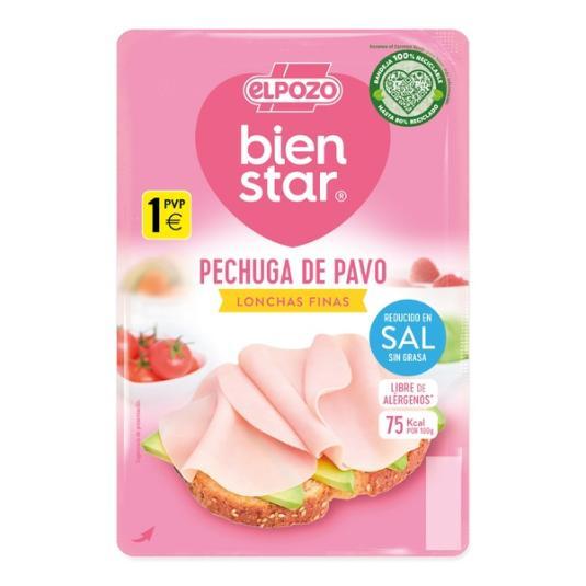 PECHUGA PAVO S/GRASA R/SAL FINAS LONCHAS EL POZO 90G