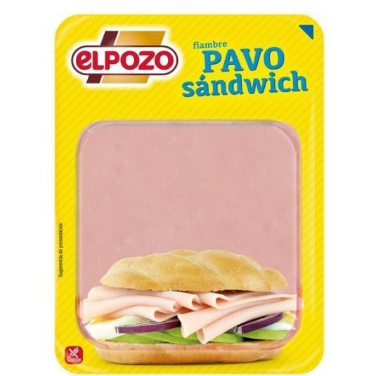 PAVO SANDWICH LONCHAS EL POZO 360G