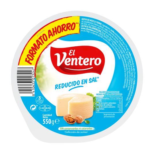 QUESO BAJO EN SAL EL VENTERO 550G