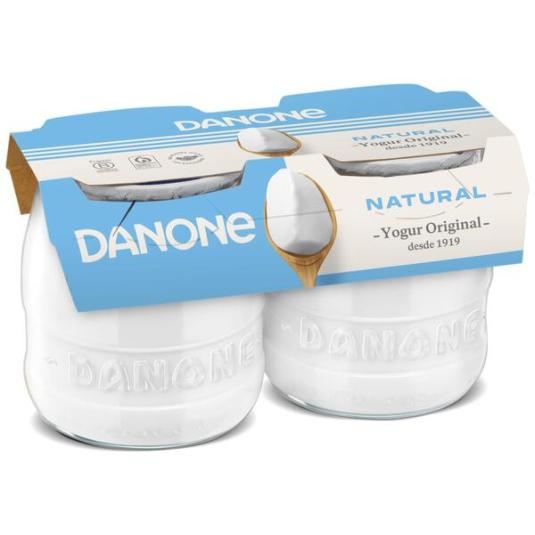 YOGUR ORIGINAL NATURAL CRISTAL DANONE P2 135G/U