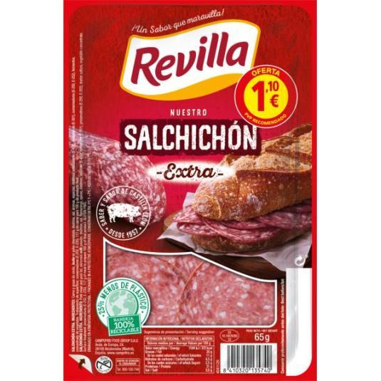 SALCHICHÓN EXTRA LONCHAS REVILLA 70G