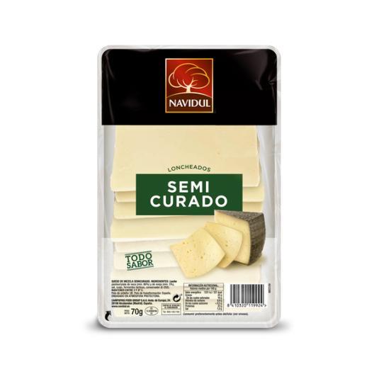 QUESO SEMICURADO LONCHA NAVIDUL 80G