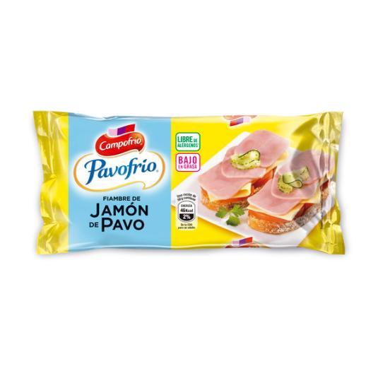 JAMÓN PAVO BAJO GRASAS PAVOFRIO CAMPOFRIO 380G