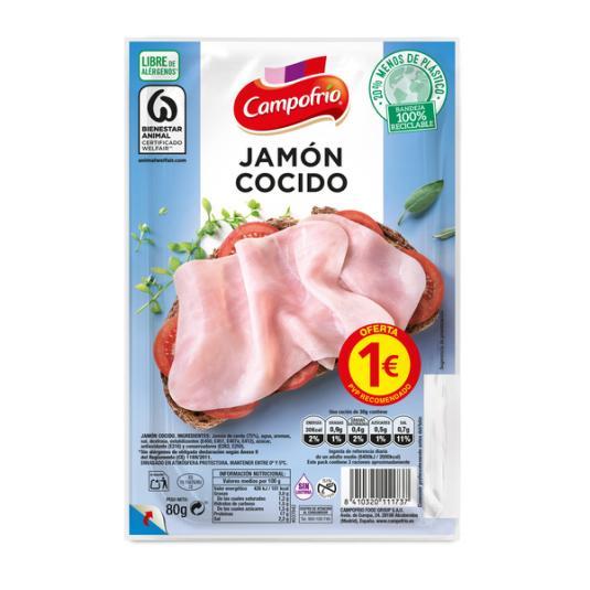 JAMÓN COCIDO LONCHAS CAMPOFRIO 90G