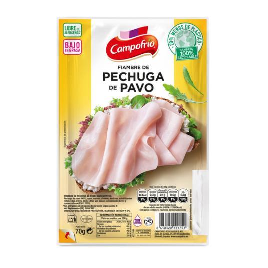 PECHUGA PAVO EXTRAJUGOSO LONCHAS CAMPOFRIO 80G