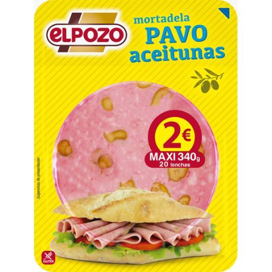 MORTALEDA PAVO C/ACEITUNA LONCHAS EL POZO 360G