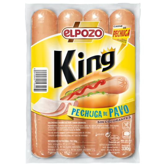 SALCHICHA PECHUGA PAVO KING EL POZO 330G