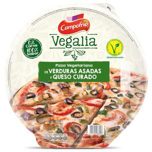 PIZZA VERDUR ASADAS/QUESO CURAD CAMPOFRÍO VEGALIA 360G