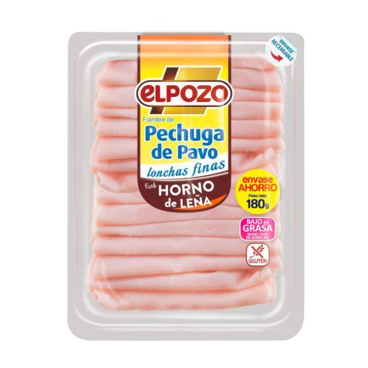 PECHUGA PAVO AL HORNO EL POZO 180G