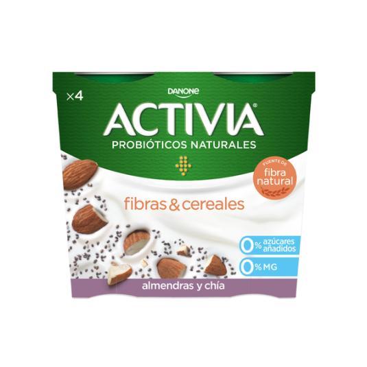 YOGUR BIFIDUS DESNATADO SEMILLAS CHIA/ALME ACTIVIA 0% DANONE P4 120G/U