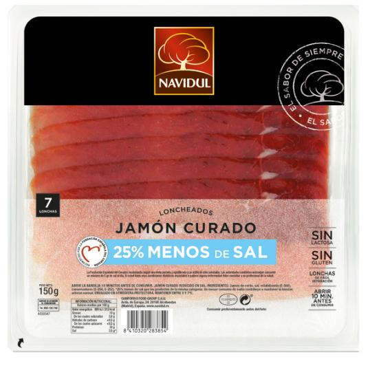JAMON CURADO RED/SAL NAVIDUL 150GR