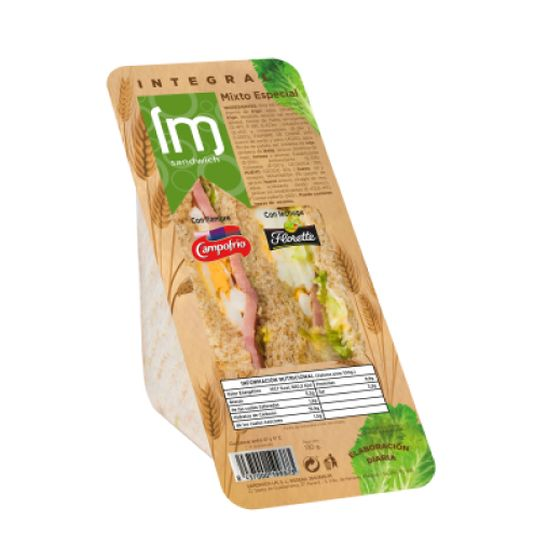 SANDWICH CLASICO INTEGRAL MIXTO ESPECIAL LM 150G