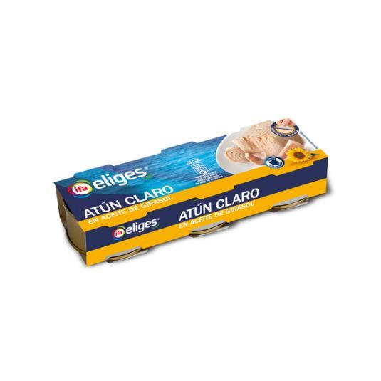 ATUN CLARO ACEITE VEGETAL LATA IFA ELIGES P3 210G