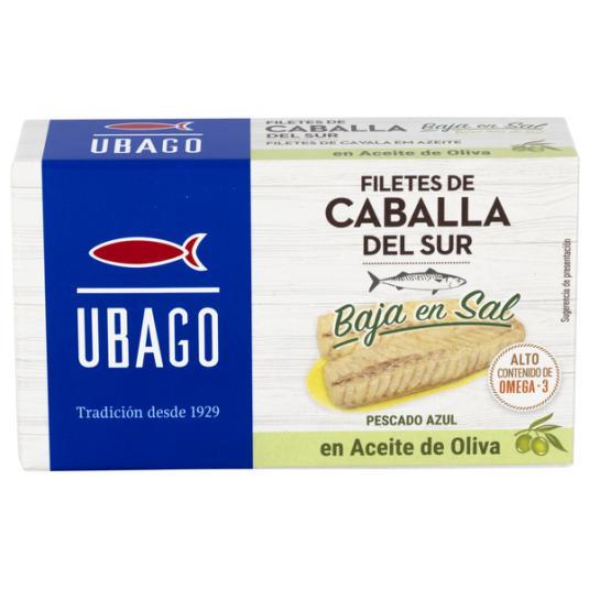 FILETE CABALLA B/SAL ACEITE OLIVA LATA UBAGO 115G