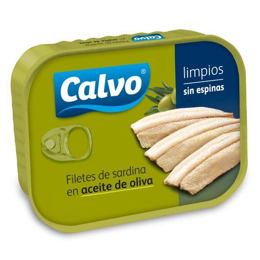 FILETE DE SARDINA S/ESPINAS OLIVA CALVO 100G