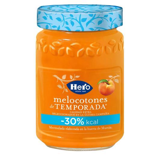 MERMELADA MELOCOTON TEMPORADA -30% KCAL HERO 335G