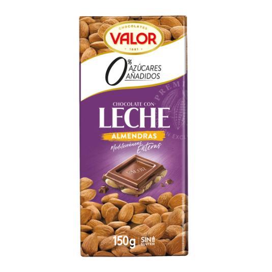 CHOCOLATE S/A LECHE CON ALMENDRA VALOR 150G