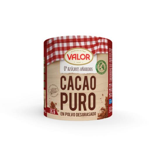 CACAO SOLUBLE 0% S/AZÚCAR PURO VALOR 250G