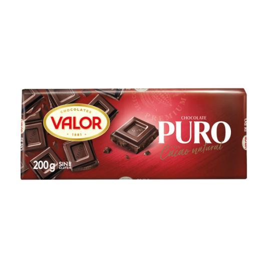 CHOCOLATE PURO VALOR 200G
