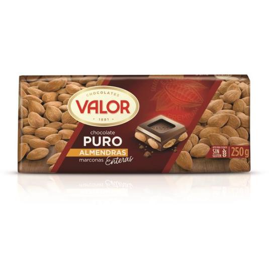 CHOCOLATE PURO C/ALMENDRA VALOR 250G