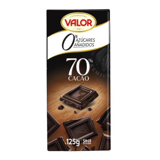 CHOCOLATE S/A NEGRO 70% VALOR 125G