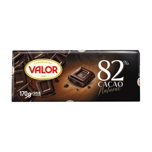 CHOCOLATE NEGRO 82% VALOR 170G