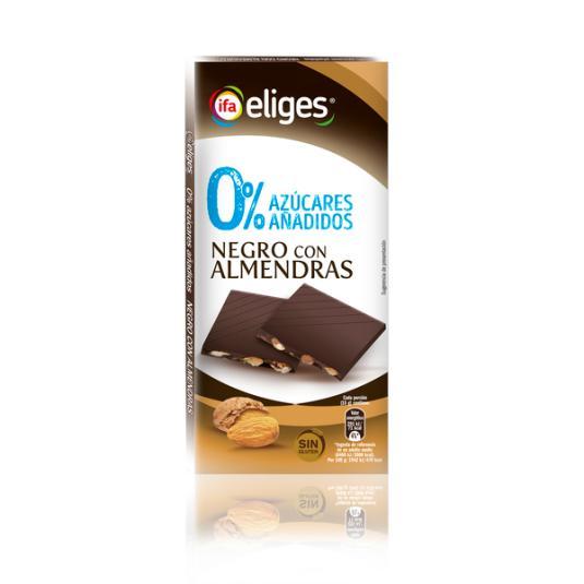 CHOCOLATE S/A NEGRO CON ALMENDRAS IFA ELIGES 100G