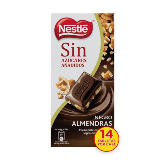 CHOCOLATE S/A NEGRO CON ALMENDRAS NESTLÉ 125G