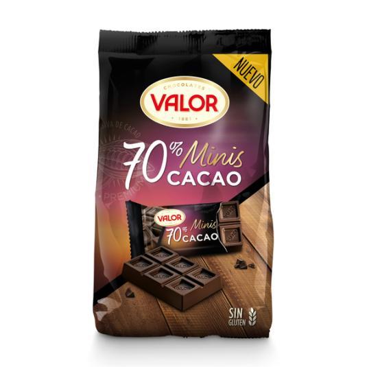 MINITABLETAS CHOCOLATE NEGRO 72% VALOR 200G