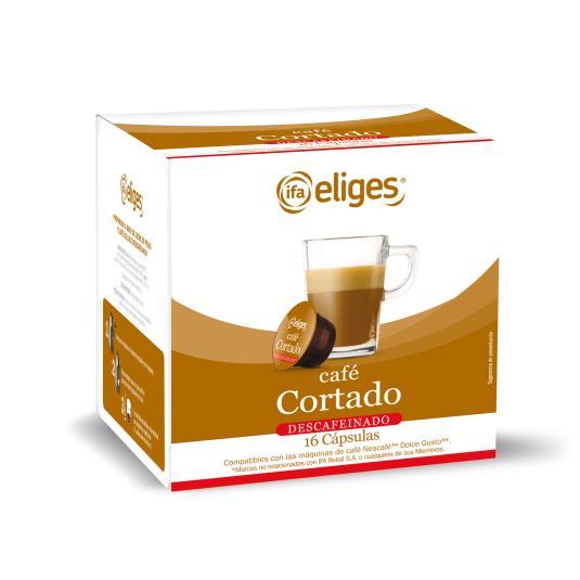 CÁPSULA CAFÉ CORTADO DESCAFEINADO GRANDE IFA ELIGES P16