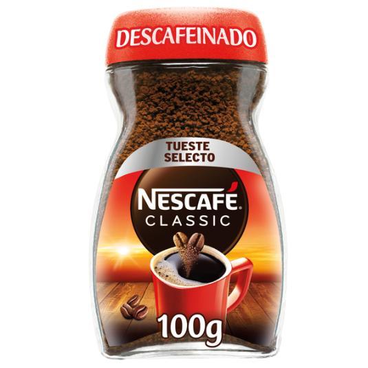 CAFÉ SOLUBLE DESCAFEINADO NESCAFÉ 100G