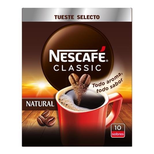 CAFÉ SOLUBLE NATURAL SOBRE NESCAFÉ P10