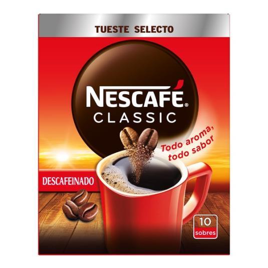 CAFÉ SOLUBLE DESCAFEINADO SOBRES NESCAFÉ P10