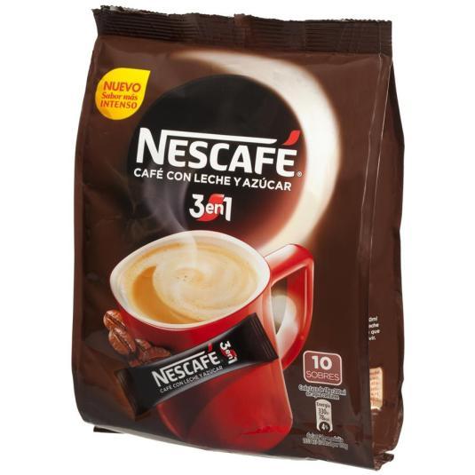 CAFÉ SOLUBLE 3 EN 1 SOBRE NESCAFÉ P10