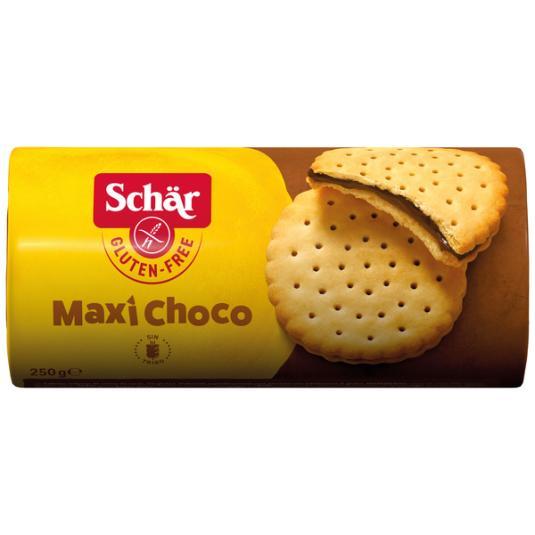 GALLETA RELLENA SIN GLUTEN CHOCO MAXI SCHÄR 250G