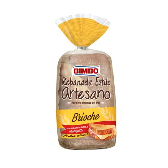 PAN DE MOLDE REBANADA BRIOCHE ARTESANO BIMBO 550G
