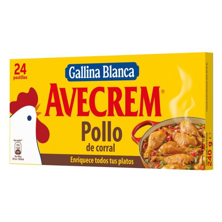 PASTILLA CALDO POLLO AVECREM 24U