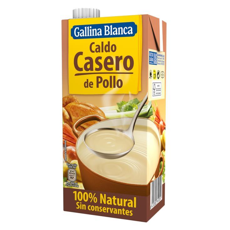 CALDO POLLO 100% NATURAL GALLINA BLANCA 1L