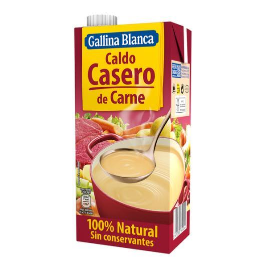 CALDO CARNE 100% NATURAL GALLINA BLANCA 1L