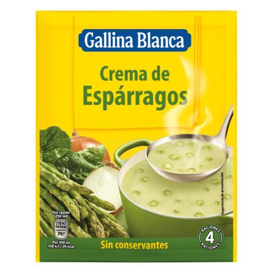 CREMA SOBRE ESPÁRRAGOS GALLINA BLANCA 85G