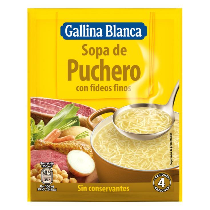 SOPA SOBRE PUCHERO GALLINA BLANCA 77G