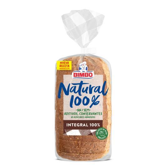 PAN DE MOLDE INTEGRAL NATURAL 100% BIMBO 450G