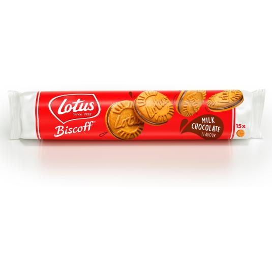 GALLETA RELLENA CHOCOLATE/LECHE LOTUS 150G