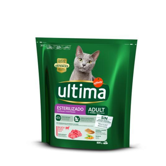 COMIDA GATOS ESTERIL ULTIMA CAT BUEY AFFINITY 800G