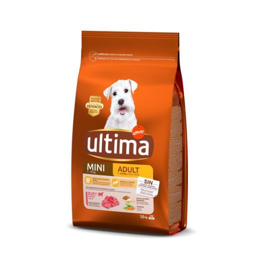 COMIDA PERROS ULTIMA DOG MINI ADULT BUEY AFFINITY 1.5KG
