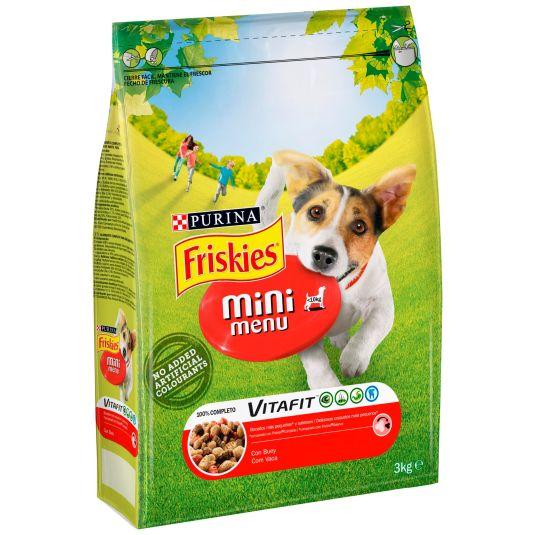 COMIDO PERRO MINI MENU DOG BEEF FRISKIES 3KG