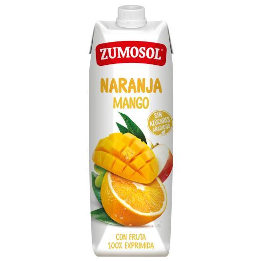 ZUMO EXPRIMIDO NARANJA Y MANGO ZUMOSOL 1L